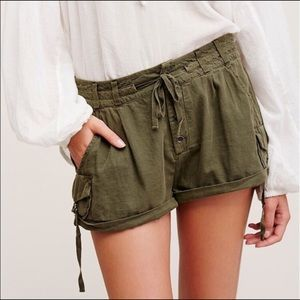 Free People Out of Africa shorts in army green